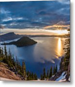 Colors Of The Spring Morning At Discovery Point Metal Print