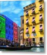 Colors Of Venice Metal Print by Jeff Kolker