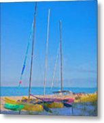 Colors On The Shore Metal Print