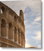 Colosseum In The Historic Centre Of Rome Metal Print