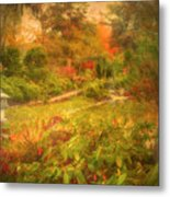 Colour Explosion In The Japanese Gardens Metal Print