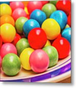 Colourful Bubblegum Candy Balls Metal Print