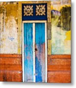 Colourful Door Metal Print