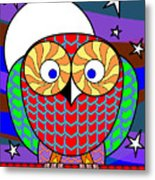 Colourful Owl Metal Print