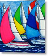 Colourful Regatta Metal Print