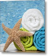 Colourful Towels Metal Print
