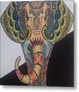 Colours In An Elephant Metal Print