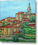 Colours of Crillon-le-Brave, Provence Metal Print