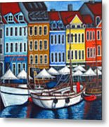 Colours Of Nyhavn Metal Print by Lisa  Lorenz
