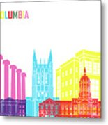 Columbia Mo Skyline Pop Metal Print