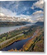 Columbia River Gorge In Autumn Metal Print