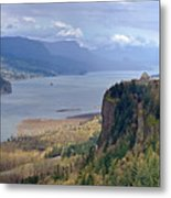 Columbia River Gorge Oregon State Panorama. Metal Print