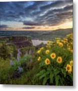 Columbia River Gorge Sunrise Metal Print