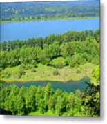 Columbia River Gorge View Metal Print