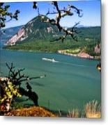 Columbia River Traffic Metal Print