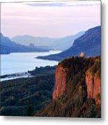 Columbia River Vista House Metal Print