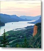 Columbia River With Vista House Metal Print