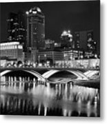 Columbus Black Night Metal Print