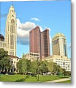 Columbus From The Park Metal Print