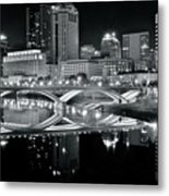 Columbus Ohio Black And White Metal Print