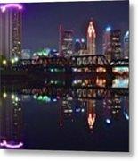 Columbus Ohio Reflecting Nicely Metal Print