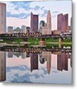 Columbus Ohio Reflects Metal Print