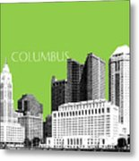Columbus Ohio Skyline - Olive Metal Print