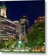 Columbus Park Boston View Metal Print