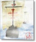 Columbus Sailed Metal Print