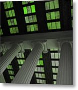 Column Stain Green Metal Print