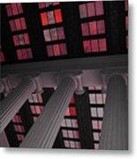 Column Stain Red Metal Print