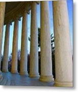 Columns At Jefferson Metal Print by Megan Cohen