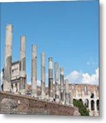 Columns Colosseum And Lamppost Metal Print