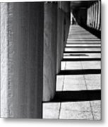 Columns In Athens Metal Print