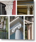 Columns Of New Orleans Collage 2 Metal Print