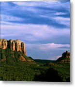 Colurt House Butte And Bell Rock Metal Print