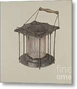 Combined Stove And Lantern Metal Print