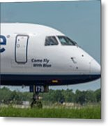 Come Fly With Blue Metal Print
