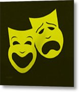 Comedy N Tragedy Yellow Metal Print