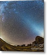 Comet Lovejoy And Zodiacal Light Metal Print