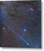 Comet Lovejoys Long Ion Tail In Taurus Metal Print