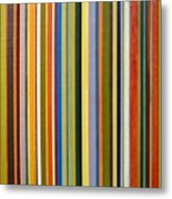 Comfortable Stripes Metal Print by Michelle Calkins