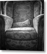 Comfy Chair By The Window Metal Print