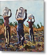 Coming From The Fields Metal Print