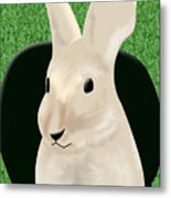 Coming Out The Rabbit Hole Metal Print by Melissa Stinson-Borg