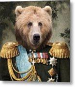 Commander Bear Metal Print