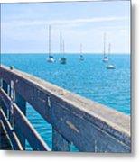 Commercial Pier On Monterey Bay-california  Metal Print