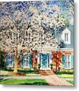 Commissioned House Portrait  Metal Print