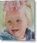 Commissioned Toddler Portrait Metal Print