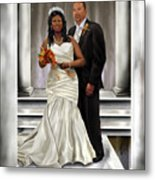 Commissioned Wedding Portrait  Metal Print